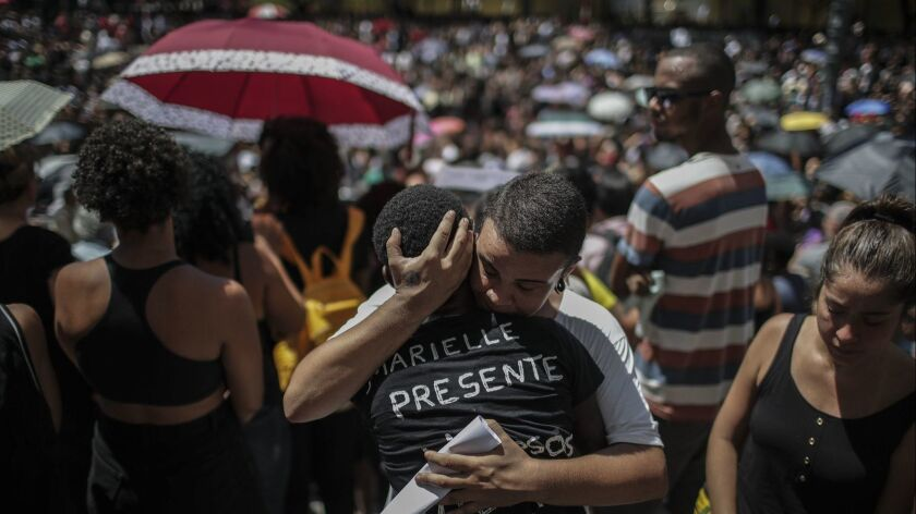 Large turn out for funeral for human rights activist Brazilian councilor Marielle Franco, R? De Janeiro, Brazil - 15 Mar 2018