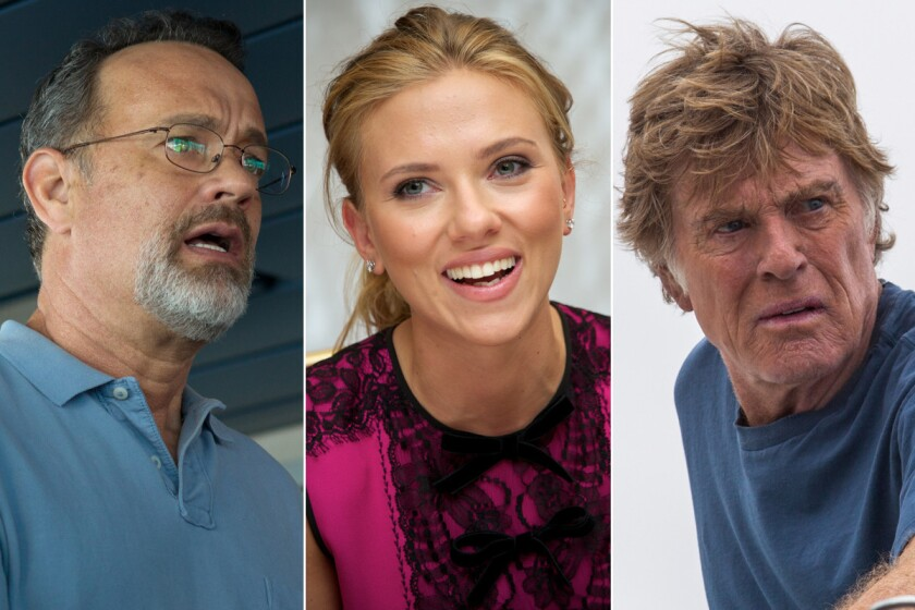 """Sometimes you can't even say, """"It was an honor to be nominated."""" Here's a look at the films and performers who failed to be recognized on Oscar nomination morning, or who are cheering their unexpected success. Pictured from left: Tom Hanks in """"Captain Phillips""""; """"Her"""" actress Scarlett Johansson; and Robert Redford in """"All Is Lost."""""""