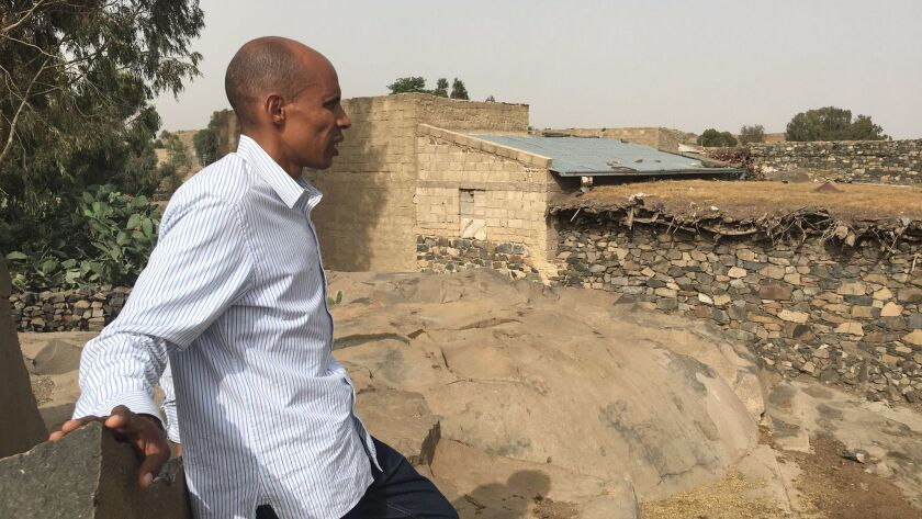 San Diego High graduate Meb Keflezighi revisits his boyhood home of Adi Gombolo in the northeast Afr