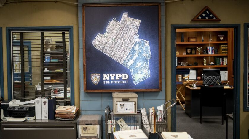 """STUDIO CITY, CA --DECEMBER 04, 2018 --Props on the set of TV's """"Brooklyn 99,"""" during a day of promot"""