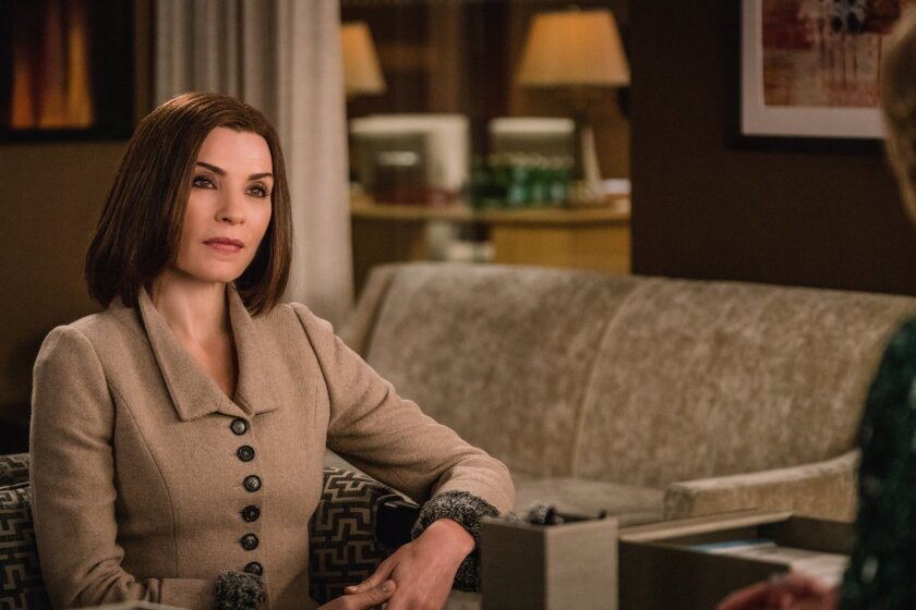 "This image provided by CBS shows, Julianna Margulies as Alicia Florrick in a scene from ""The Good Wife."" Show creators Robert and Michelle King say they welcomed CBS' decision to end the series, allowing them to write its final chapter.  On Sunday, Feb. 7, 2016, the network used its Super Bowl tele"
