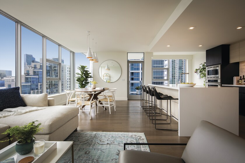 The pop-ups will be available for 60 days at the amenity-rich high-rise in downtown San Diego and will be on view at an open-house event June 23.