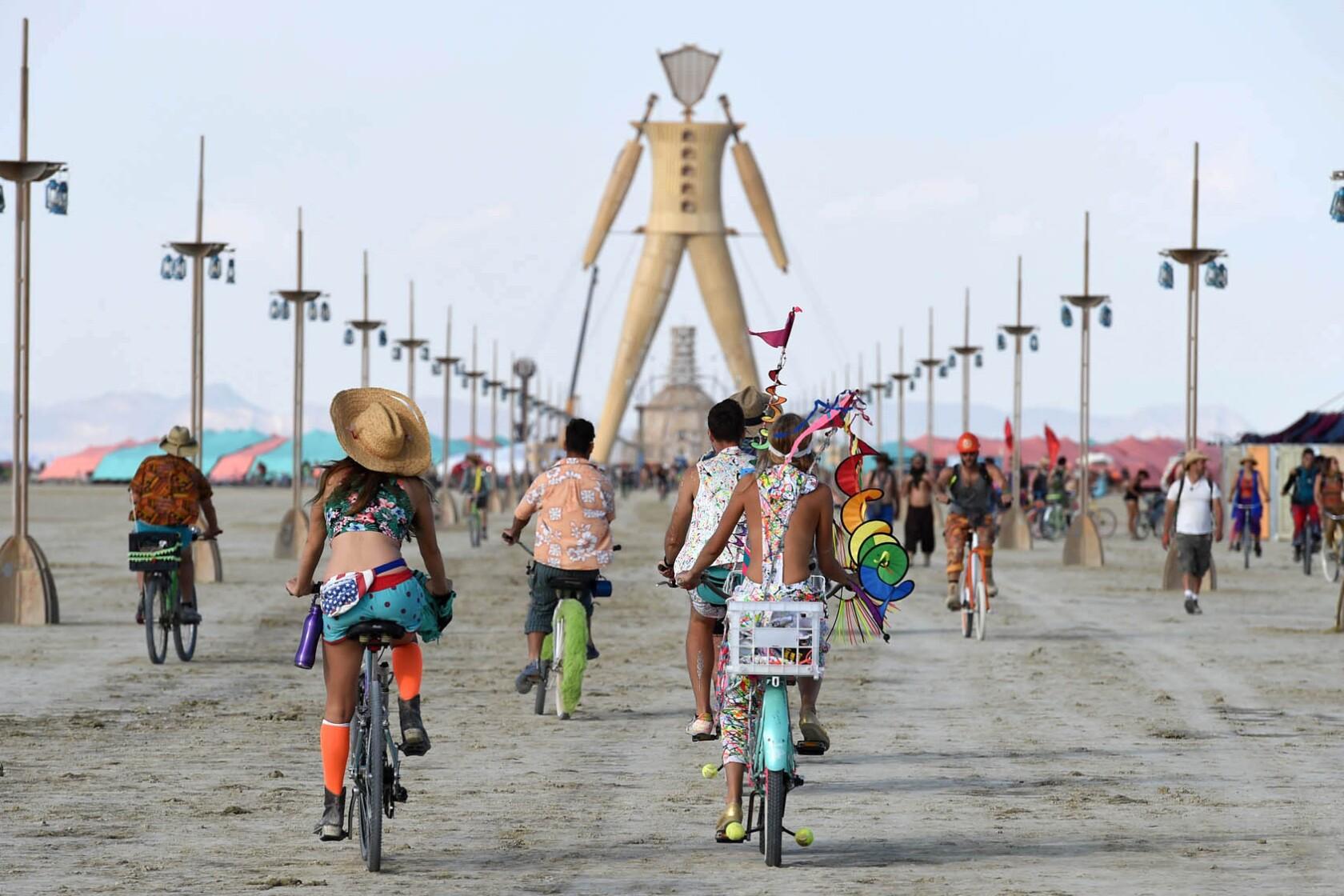 A Reno first: Burning Man man being built here
