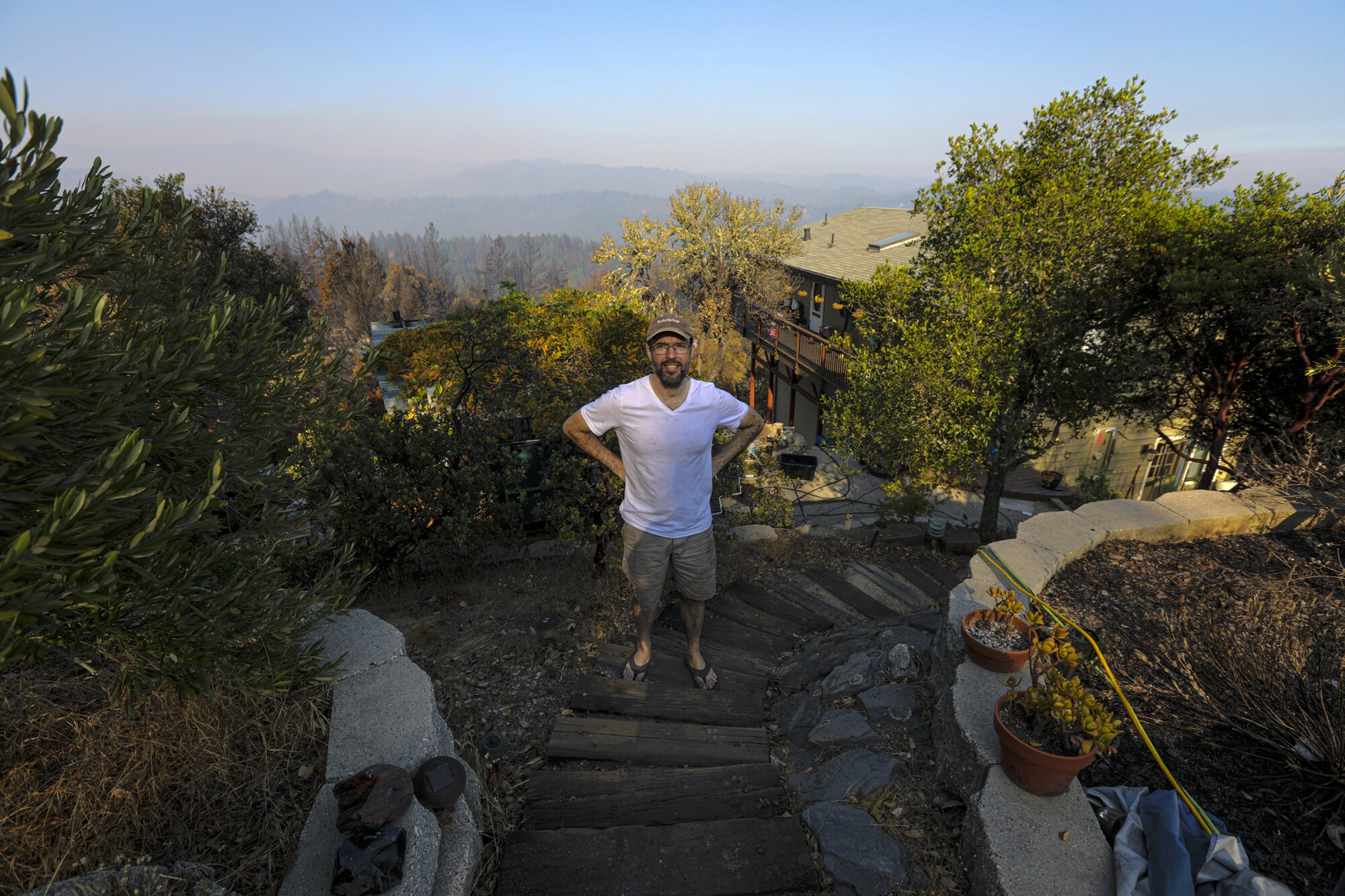Noah Standridge defied the orders to evacuate his home amid the CZU Lightning Complex fire.