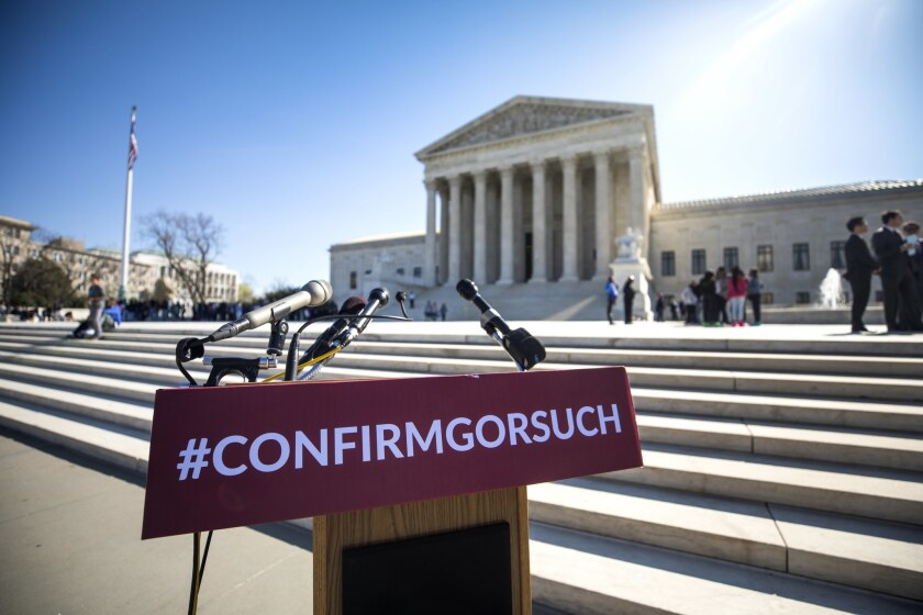 Republicans Rally for Gorsuch at Supreme Court