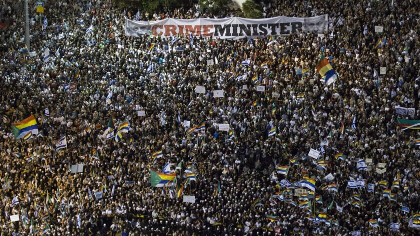 Demonstration In Tel Aviv Against Jewish Nation-State Law