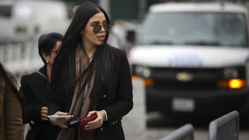 Emma Coronel arrives at the U.S. District Court in January 2019.