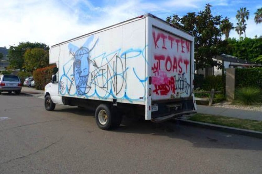 Trucks owned by David Teafatiller of Hike Bike kayak were repeatedly vandalized, and have recently been sold. File