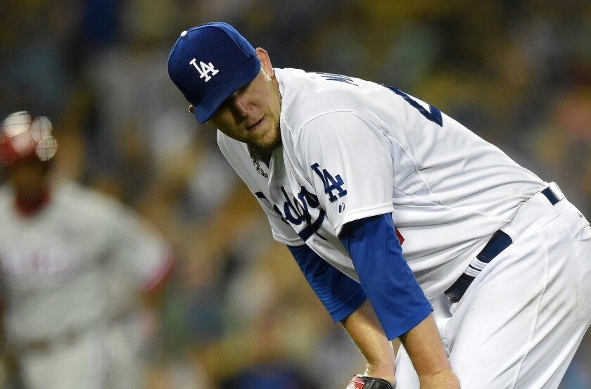 Tired Dodgers bullpen gets more taxed in 7-0 loss to Phillies