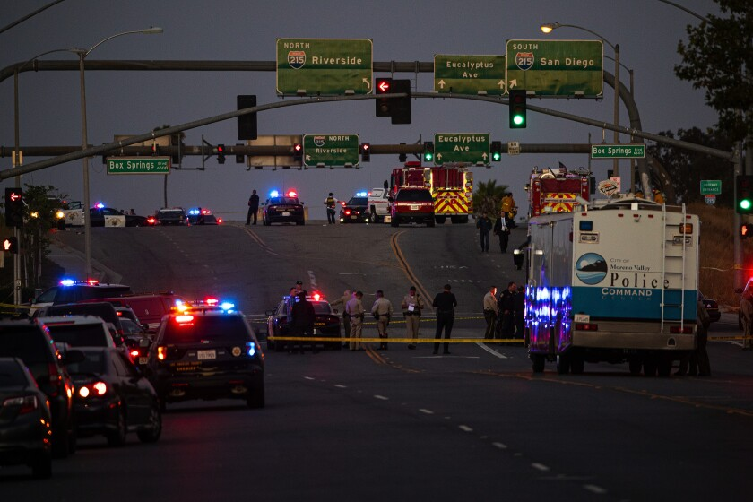 Riverside freeway shooting