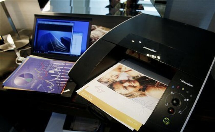 The Memjet office printer is pictured during the Consumer Electronics Show, Friday, Jan. 7, 2011, in Las Vegas. (AP Photo/Isaac Brekken)