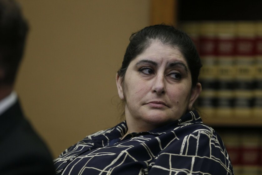 Ghazal Mansury in court.