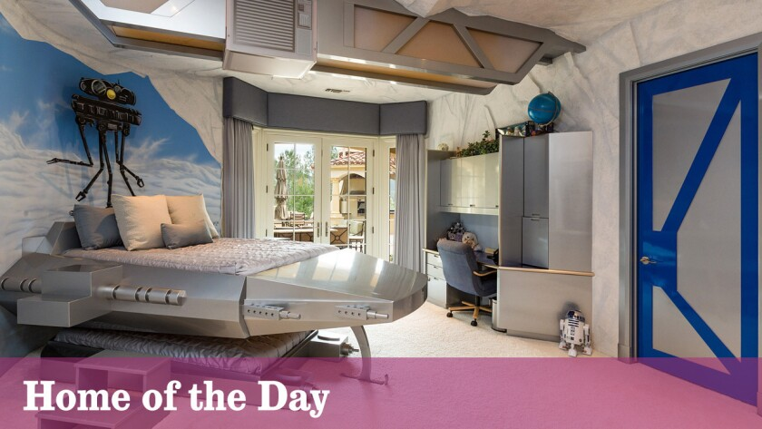 Themed bedrooms, a two-story game room and a lagoon-style swimming pool lend a theme park quality to this $12.5-million home in the North Ranch area of Westlake Village.