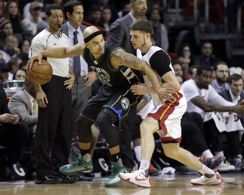 The Milwaukee Bucks beat the short-handed Miami Heat, 91-79