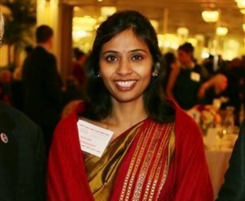 A file photo shows Devyani Khobragade, India's deputy consul general, who has been indicted by U.S. prosecutors on charges of visa fraud.