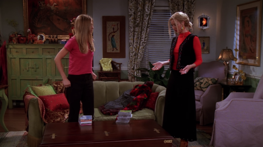 """Friends"" featured an episode about Pottery Barn"