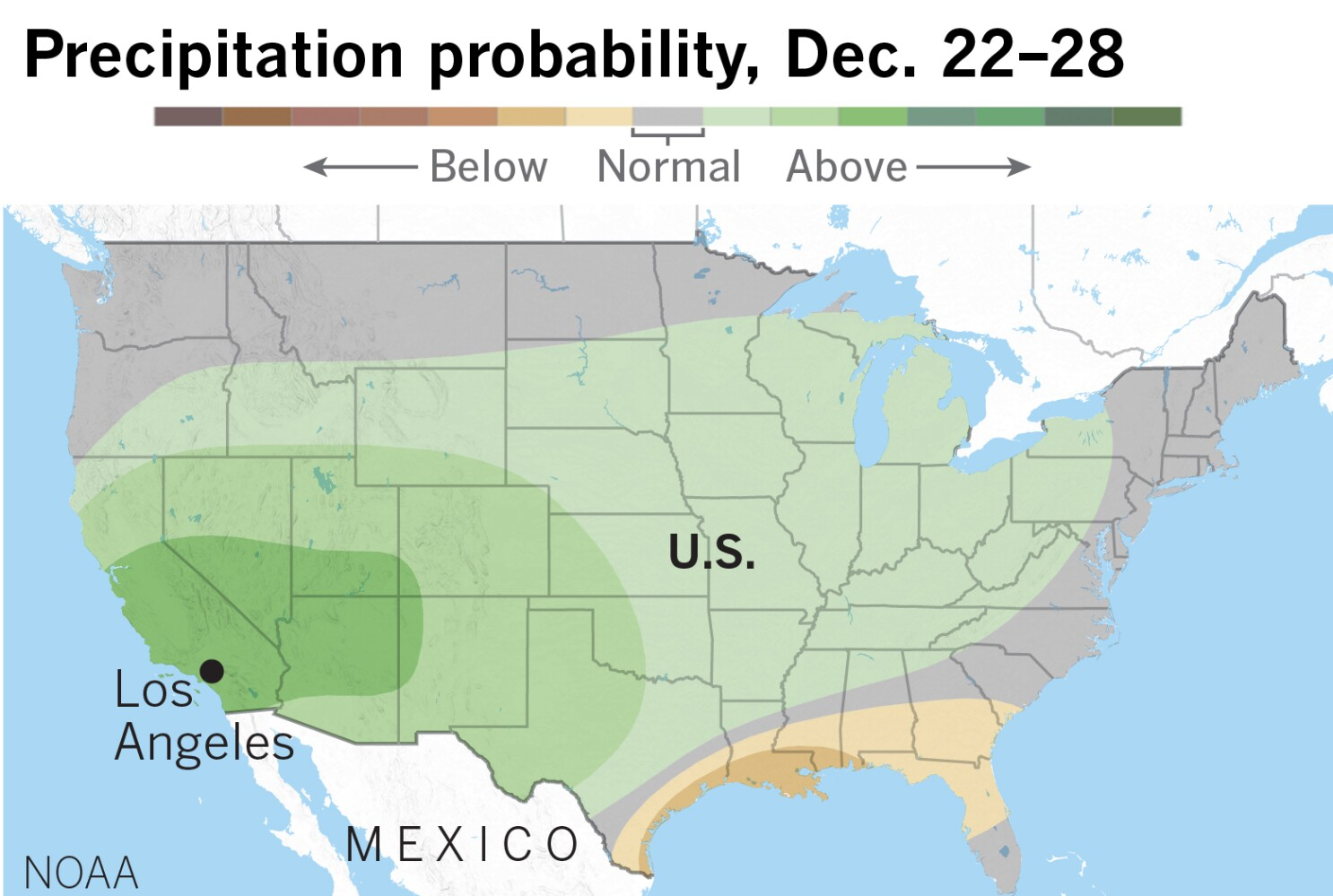Will California have a white Christmas? Or a wet one?   Los
