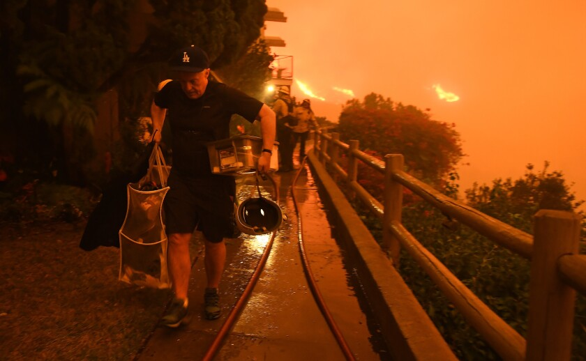 Malibu residents evacuate as the Woolsey Fire approaches.