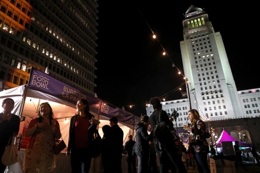 Los Angeles Times Food Bowl Night Market at Grand Park in Los Angeles, Calif., on May 16, 2018. (Gary Coronado / Los Angeles Times)
