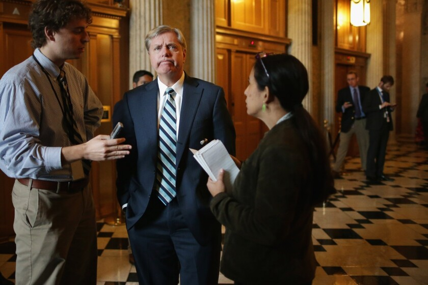 Sen. Lindsey Graham (R-S.C.) thinks $600 a week is too much for the unemployed.