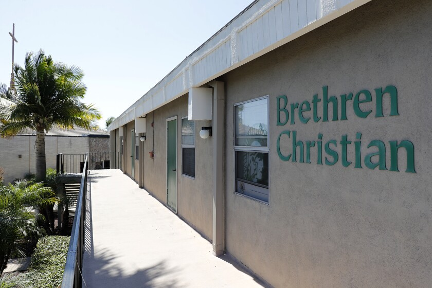 Brethren Christian High School in Huntington Beach.