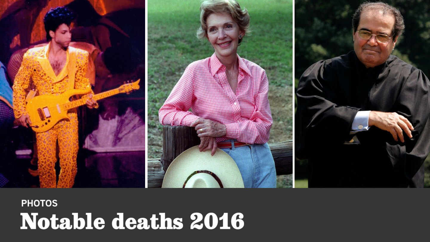 Photos of leaders, stars and other notable figures who died in 2016.