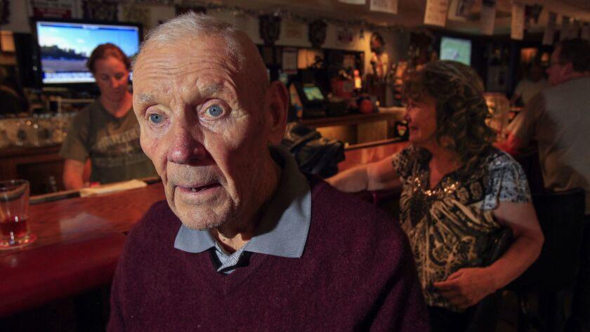 RAMONA, October 4, 2018 | Charles Richard Bradshaw, 89, a World War II Army veteran, sits at the bar