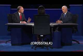 VP Debate: People at home cannot hear you