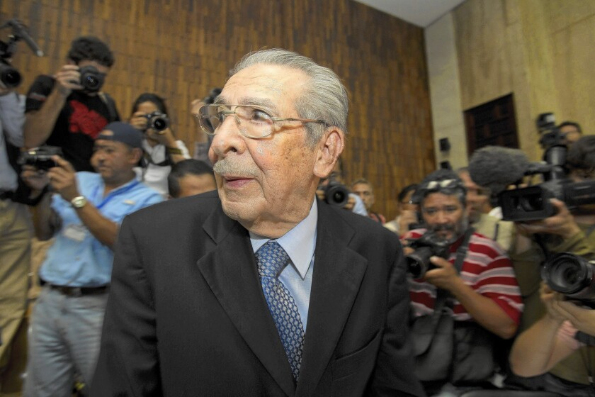 Efrain Rios Montt, Guatemala's de facto leader during systematic massacres in the 1980s, was found guilty of genocide and crimes against humanity on May 10, 2013, but the conviction was overturned 10 days later.