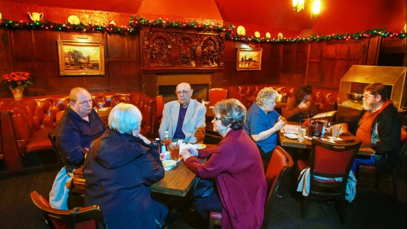 Red Fox patrons, seen here in 2018, enjoy lunch at the restaurant, located on El Cajon Boulevard. It is supposed to close some time in January.
