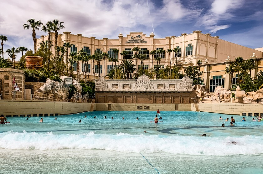 Mandalay Bay's wave pool.