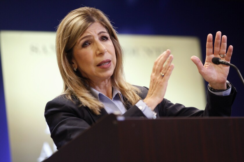 File photo of District Attorney Summer Stephan at a news conference in September 2018.