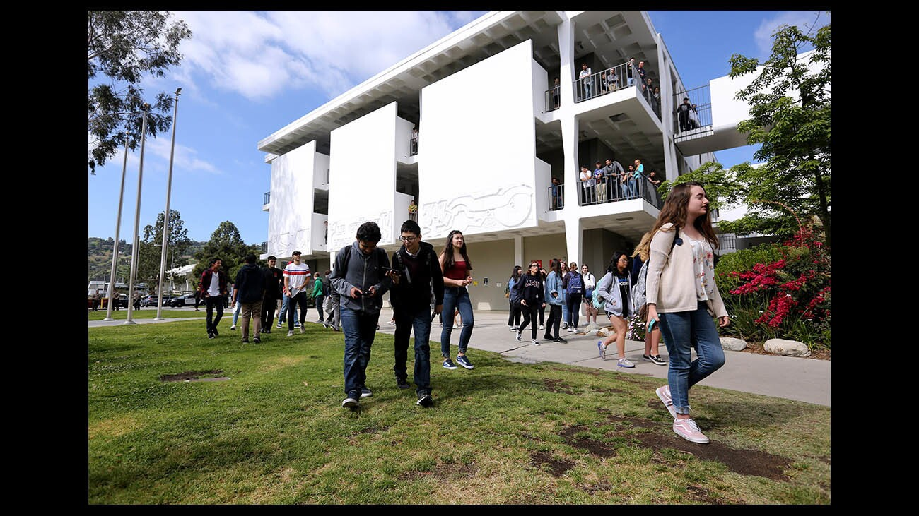 Photo Gallery: La Cañada High School students walk out and march against gun violence