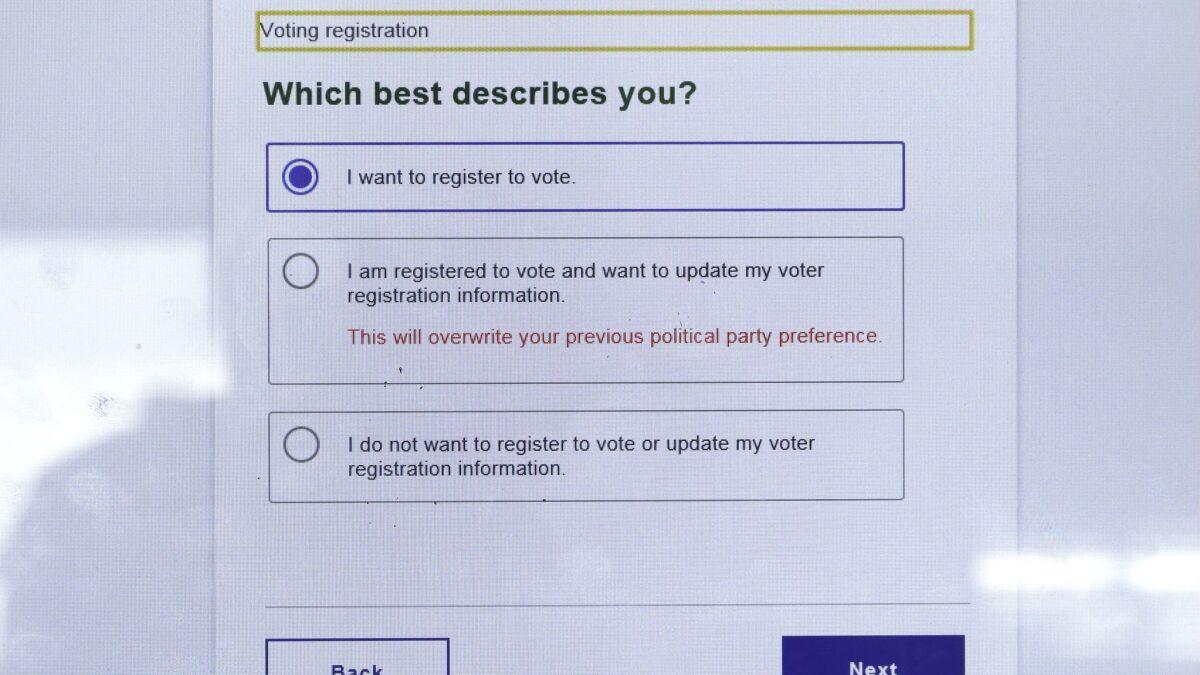 Hackers attacked California DMV voter registration system