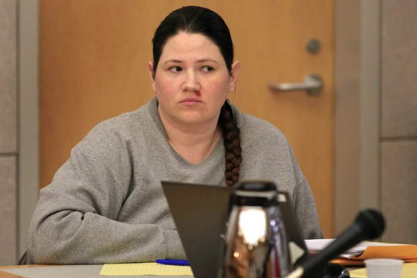 Dorothy Grace Marie Maraglino, one of three defendants in the Brittany Killgore murder prior to the start of a preliminary hearing in Vista Superior Court . The defendants, Louis Ray Perez, Jessica Lynn Lopez and Dorothy Grace Marie Maraglino, have pleaded not guilty to murder charges.