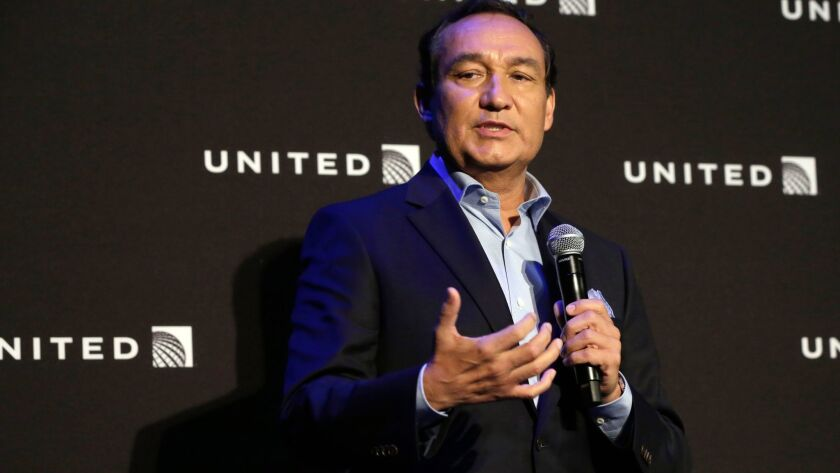 United Airlines CEO Oscar Munoz in New York in June.