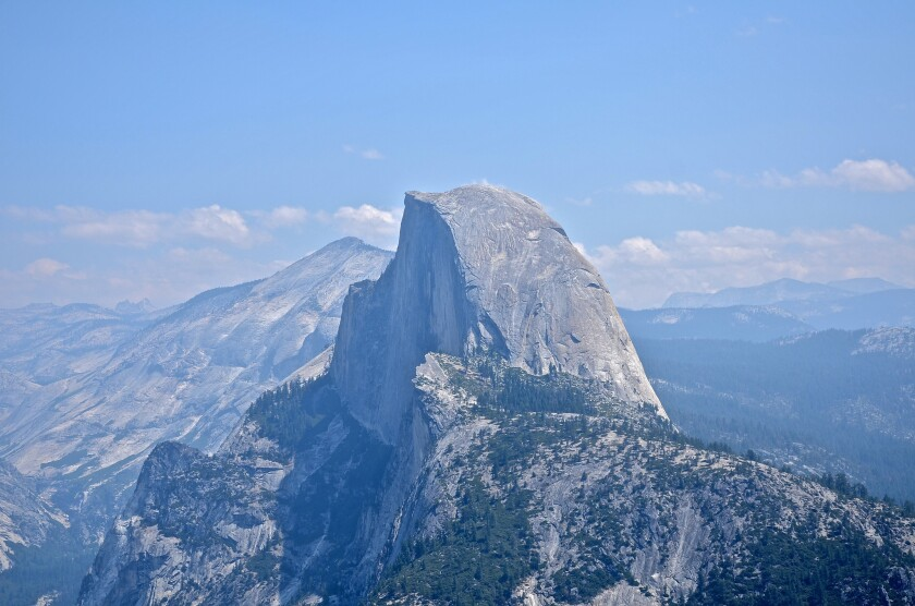 The 16-mile round-trip hike to the top of Yosemite's Half Dome is a 10- to 12-hour undertaking.