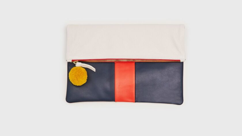 A selection of Demylee x Clare V. clutches, which sell for $136 and $234, are exclusively available