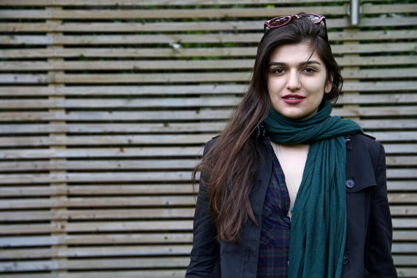An Iranian court sentenced Ghoncheh Ghavami to a year in jail for protesting a ban on women attending volleyball games. Above, Ghavami in London in 2012.