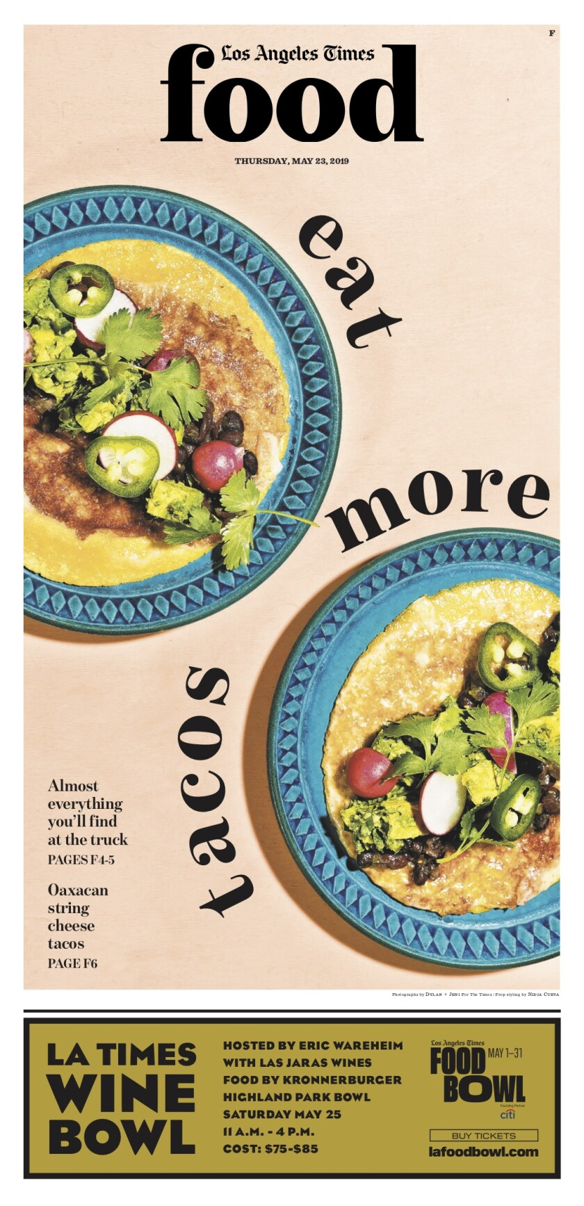 Los Angeles Times Food cover, May 23, 2019