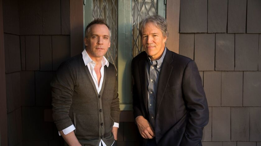 """Director Jean-Marc Vallee, left, and writer-producer David E. Kelley of the upcoming HBO series """"Big Little Lies."""""""