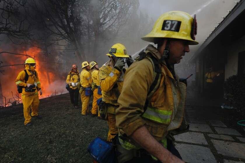 During a week of flames, upscale Bel-Air homes burn as fire