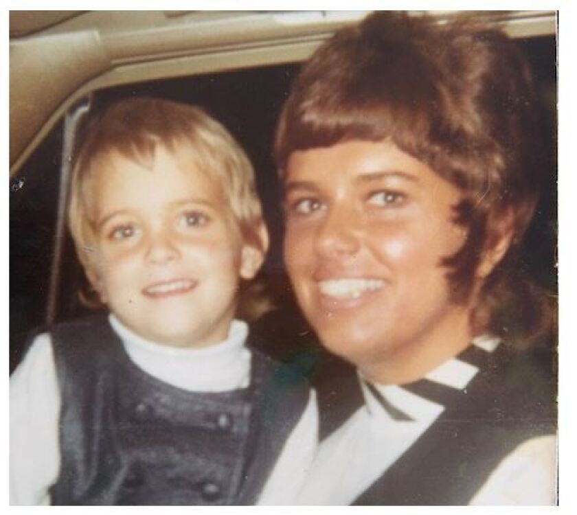 Toni Anderson, left, and daughter Lane Lenhart photo circa 1970