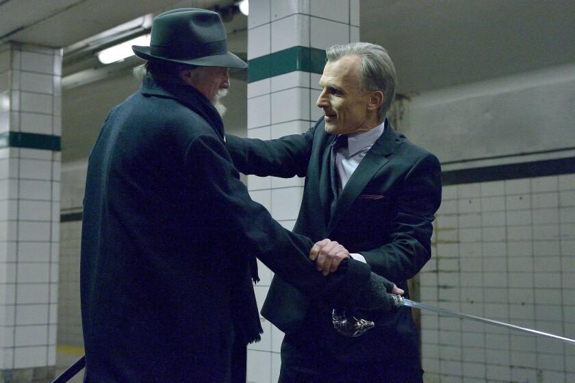 "David Bradley as Abraham Setrakian, left, and Richard Sammel as Thomas Eichhorst in the ""For Services Rendered"" episode of ""The Strain."""