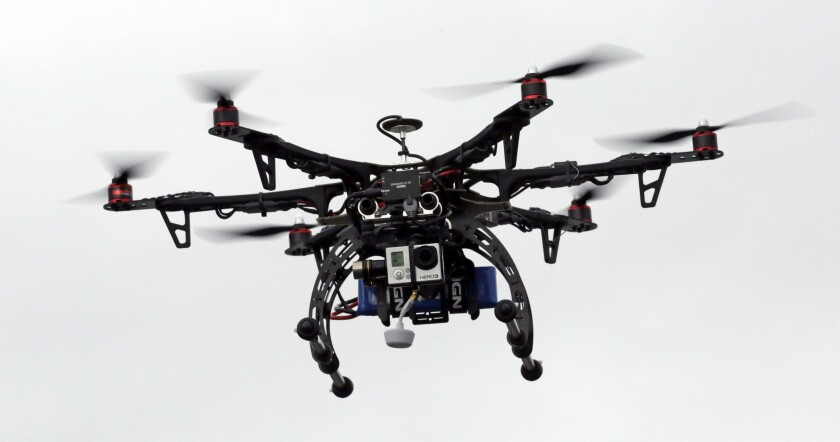 A drone is demonstrated