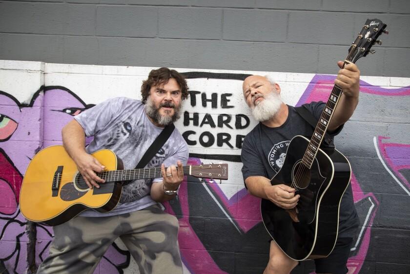 NORTH HOLLYWOOD, CA - OCTOBER 03, 2018 - Tenacious D, the comedy rock duo with actors Jack Black, Lt