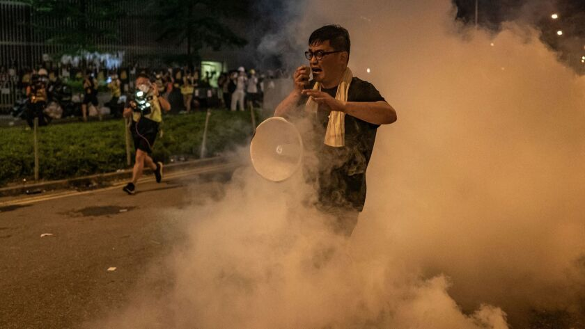 Anti-Extradition Protesters Rally In Hong Kong