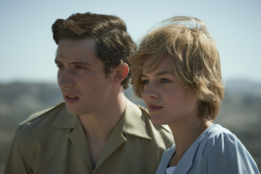 """Josh O'Connor and Emma Corrin star as Prince Charles and Princess Diana in """"The Crown."""""""
