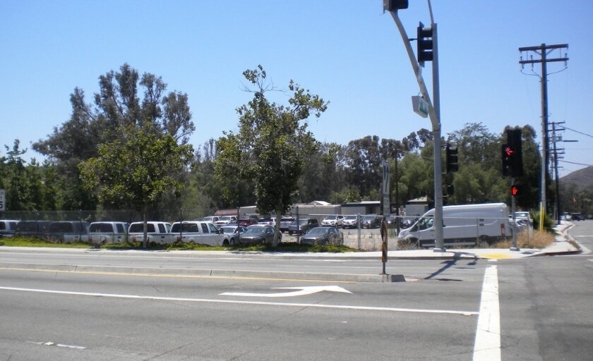 The city-owned lot southwest of the intersection of Oak Knoll and Pomerado roads.