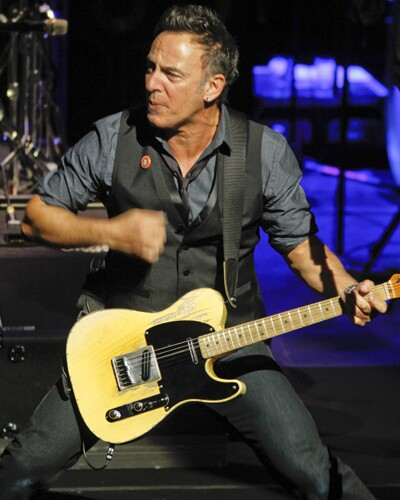 Bruce Springsteen performs with the E Street Band.